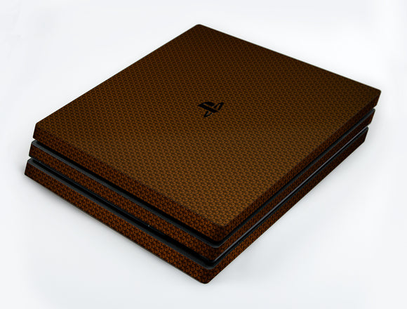 atFoliX FX-Honeycomb-Brown Skin für Sony PlayStation 4 Pro (PS4 Pro)