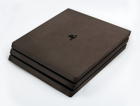 atFoliX FX-Leather-Brown Skin für Sony PlayStation 4 Pro (PS4 Pro)