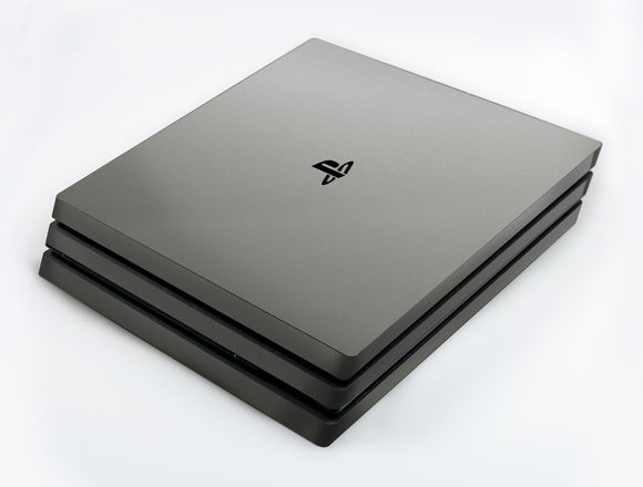 atFoliX FX-Soft-Silver-Grey Skin für Sony PlayStation 4 Pro (PS4 Pro)