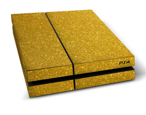 atFoliX FX-Glitter-Gold-Rush Skin für Sony PlayStation 4 (PS4)