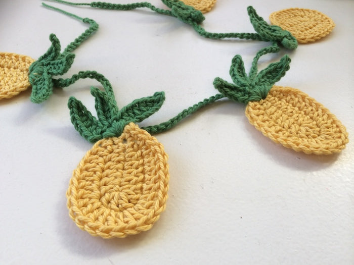 Tropical Pineapple Bunting A Free Crochet Pattern By Hand London