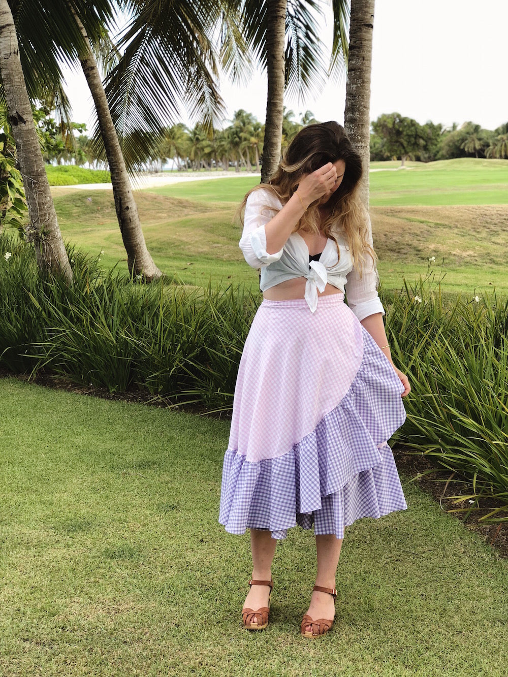 DIY ruffle hem wrap skirt