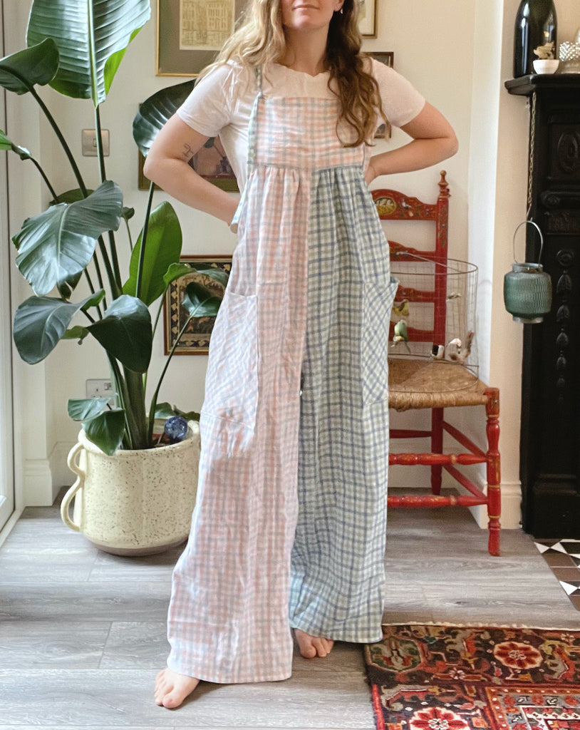 Pattern hacking Leo - adding patch pockets and buttonhole straps to your dungarees