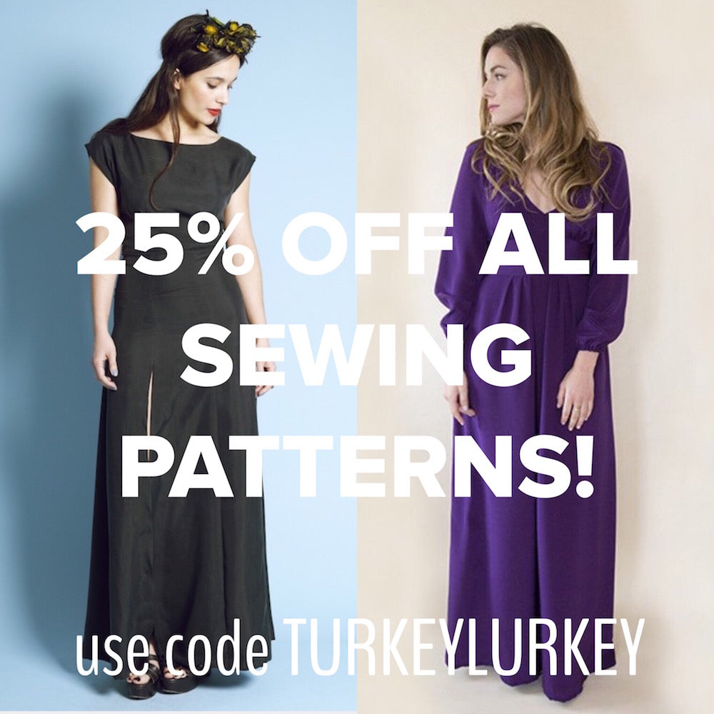 BLACK FRIDAY SALE!!! 25% off all sewing patterns this weekend!