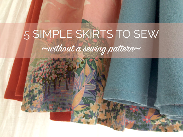 5 Easy Skirts To Make Refashion Without A Sewing Pattern By
