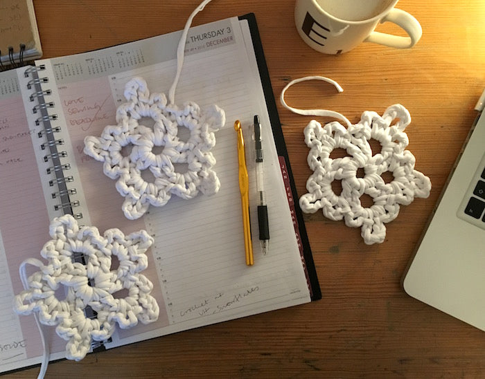 Free Pattern Super Easy Crochet Snowflakes By Hand London