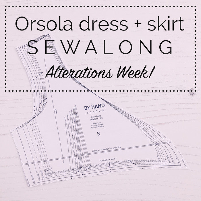 Orsola Dress & Skirt Sewalong - Grading between sizes