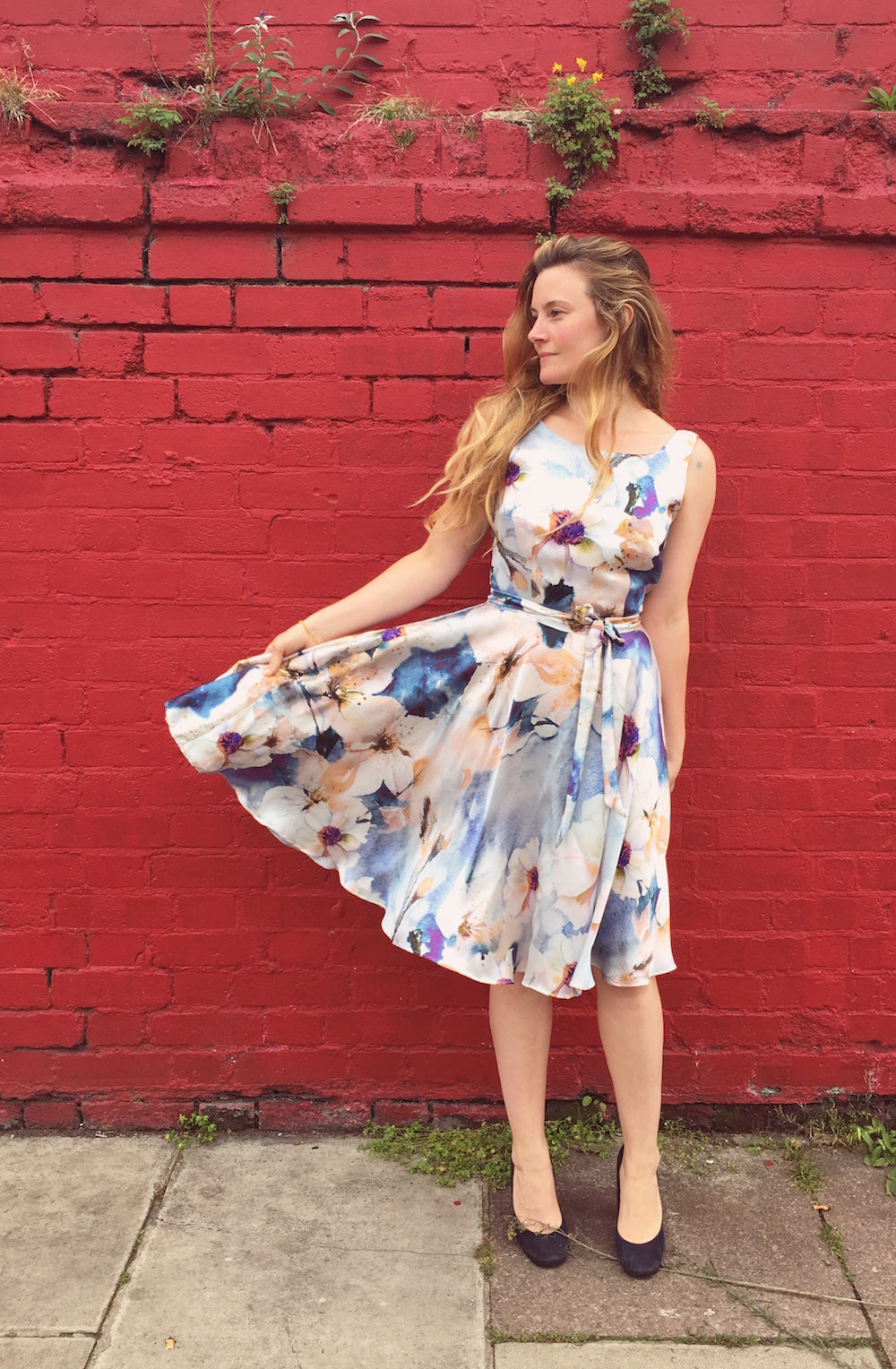 Pattern hacking Orsola - adding a full circle wrap skirt