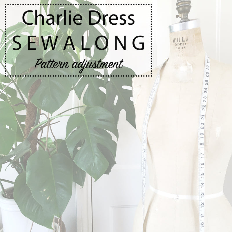 Charlie Dress Sewalong: Swayback alteration & grading between sizes