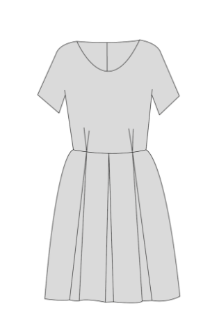 Zeena Dress PDF Sewing Pattern - Variation 2