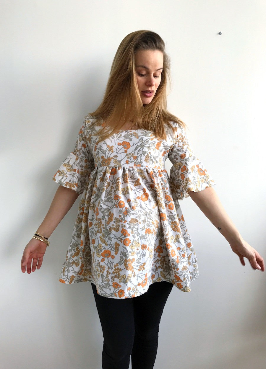 Zeena Dress maternity top sewing pattern hack