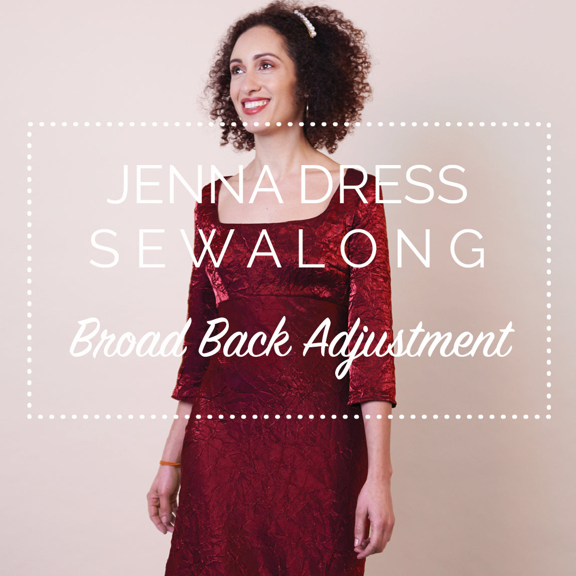Jenna Dress Sewalong - How to fix a tight back (broad back alteration)