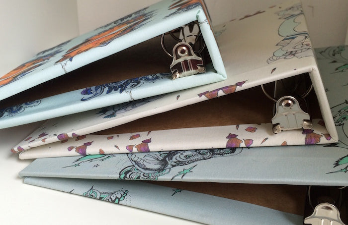 DIY fabric covered folders