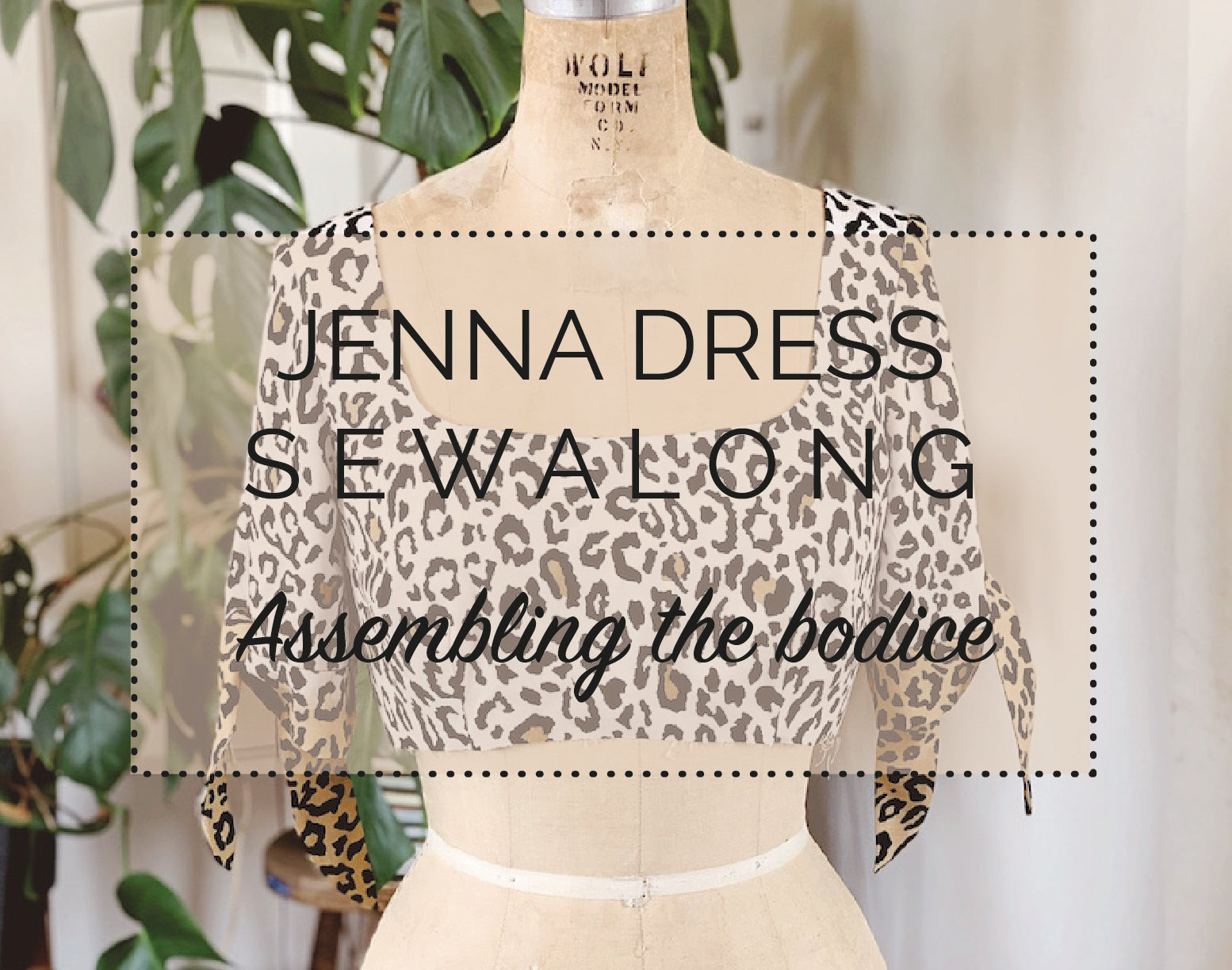 Jenna Dress Sewalong - Assembling the bodice (variation 1)