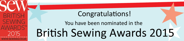 Vote for us in the Sew Magazine 2015 British Sewing Awards!