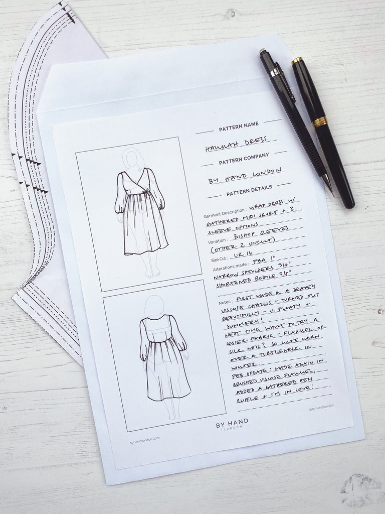 Pdf Sewing Planner By Hand London