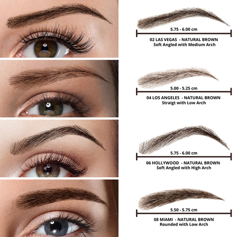 EYEBROW WIGS NATURAL BROWN COLLECTION