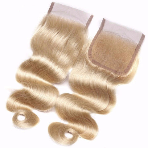 613 Blonde Brazilian Body Wave Lace Closure