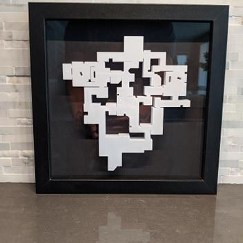 Valorant 3D Map Ascent Layout || Framed Picture Art || - Casual Chicken
