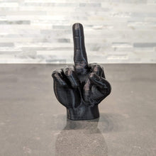 Load image into Gallery viewer, Middle Finger Hand Sign Mini Statue - Casual Chicken