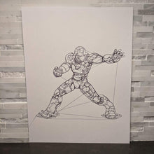 Load image into Gallery viewer, Iron Man || single one line pen drawing - Casual Chicken