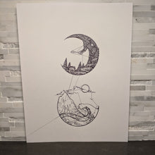 Load image into Gallery viewer, Morning and Night Abstract Art || single one line pen drawing - Casual Chicken