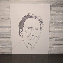 Load image into Gallery viewer, Nicolas Cage Abstract Face Portrait || single one line pen drawing - Casual Chicken