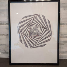 Load image into Gallery viewer, Abstract Spiral Art Optical Illusion || single one line pen drawing - Casual Chicken
