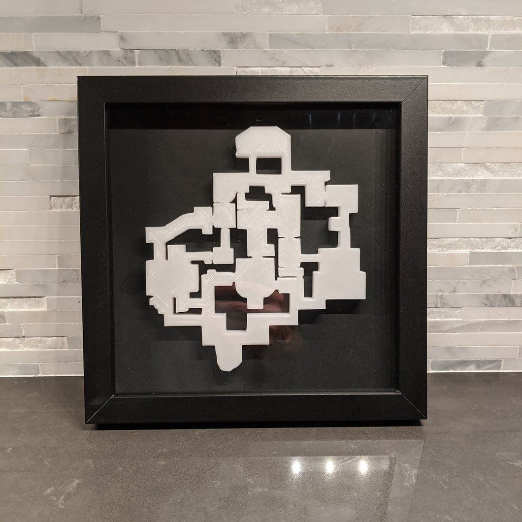 Valorant 3D Map Haven Layout || Framed Picture Art ||