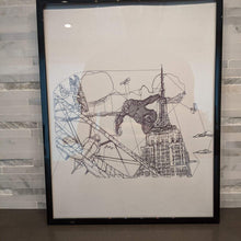 Load image into Gallery viewer, King Kong Empire State Building || single one line pen drawing - Casual Chicken
