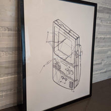 Load image into Gallery viewer, The Gameboy Color || single one line pen drawing