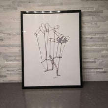 Load image into Gallery viewer, A Master Puppeteer || single one line pen drawing - Casual Chicken