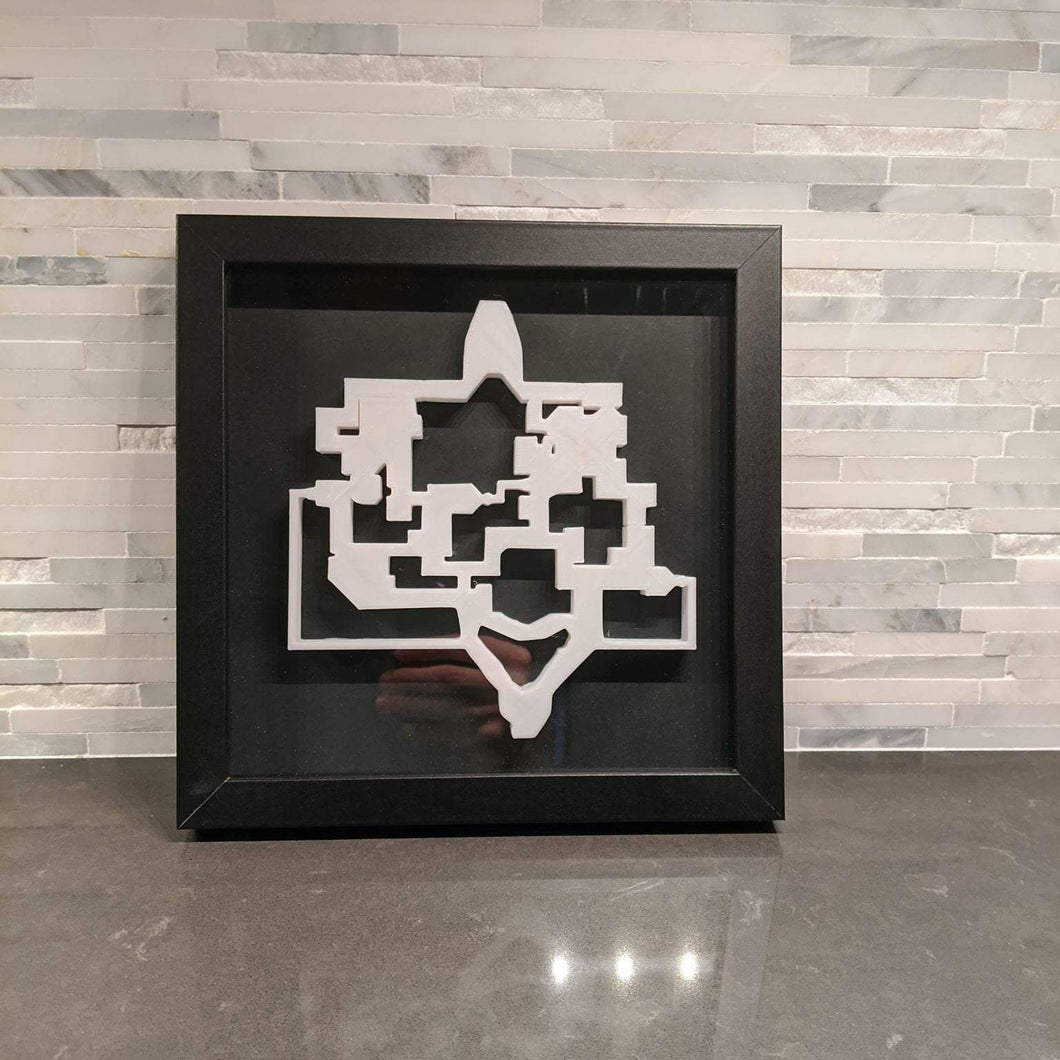 Valorant 3D Map Bind Layout || Framed Picture Art ||