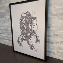 Load image into Gallery viewer, Storm Trooper Art || single one line pen drawing