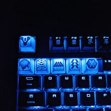 Load image into Gallery viewer, Destiny gaming keycaps || Logo, Traveler, Raid, Warlock, Hunter, Titan || || For Mechanical Cherry MX switches || - Casual Chicken