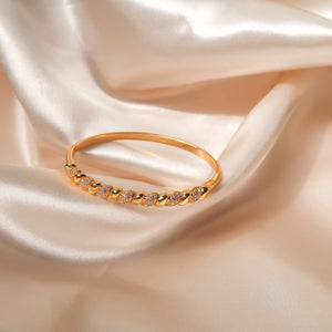 Intertwined Diamond Bangle