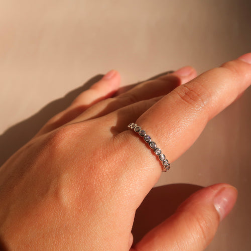 Eternity Diamond Ring in Silver