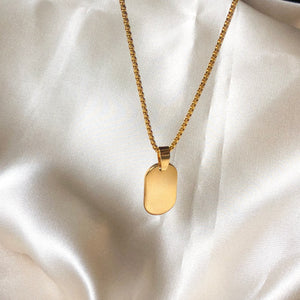 Gold Tag Necklace