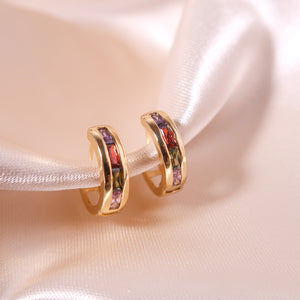 Brick Diamond Hugger Hoops