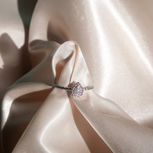 Load image into Gallery viewer, Teardrop Diamond Ring in Silver