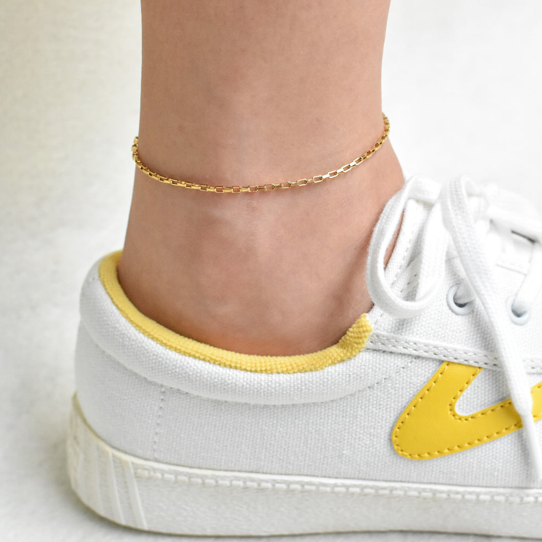 Rectangular Cable Chain Anklet