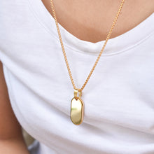 Load image into Gallery viewer, Gold Tag Necklace