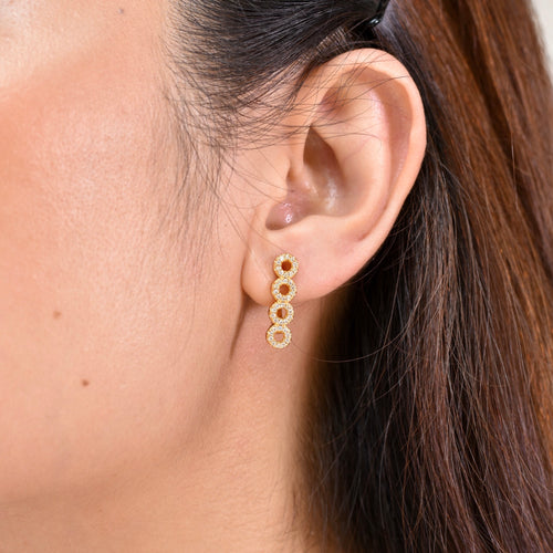 Circles Diamond Earring