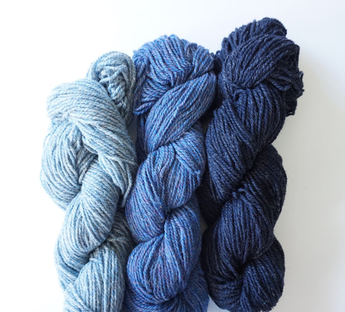 Blue Rug Wool Yarns