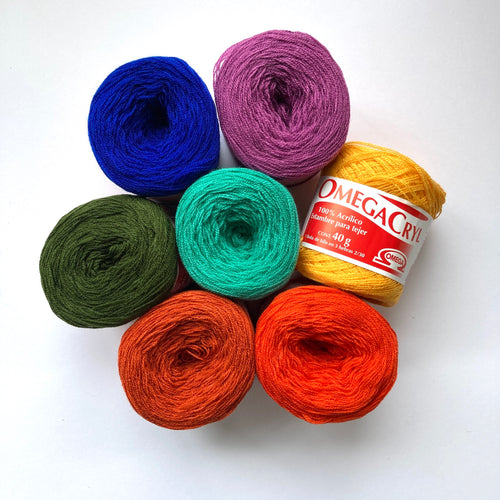 Omega Cryl Yarn Combo Pack Multiple Colors
