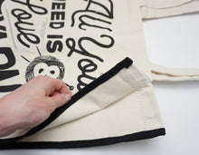 Load image into Gallery viewer, All You Need Is Love and Yarn Canvas Tote Bag
