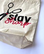 Load image into Gallery viewer, Stay Sharp Canvas Tote Bag