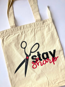 Stay Sharp Canvas Tote Bag