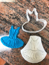 Load image into Gallery viewer, Ballerina / Ballet Tutu Cookie Cutter and Fondant Embosser - Made in Canada