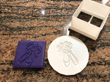 Load image into Gallery viewer, Ballerina/Ballet Slippers Fondant Embosser and Cookie Cutter - Made in Canada
